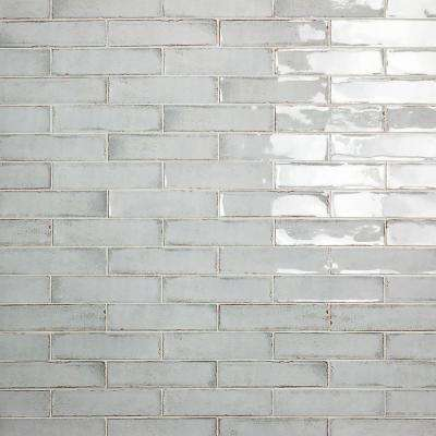 Moze Gray 3 in. x 12 in. 9 mm Ceramic Wall Tile  (22 piece 5.38 sq. ft./ Box)