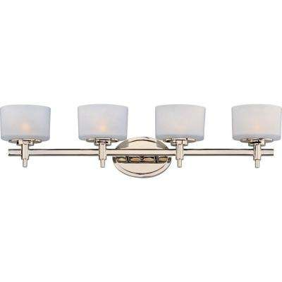 Lola 4-Light Polished Nickel Bath Vanity Light