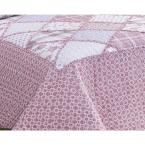 Morgan Home MHF Home Dharma Floral and Plaid Patchwork Full/Queen Quilt Set (3-Piece)