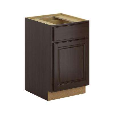 Madison Assembled 21x34.5x24 in. Base Cabinet with Soft Close Drawer in Java