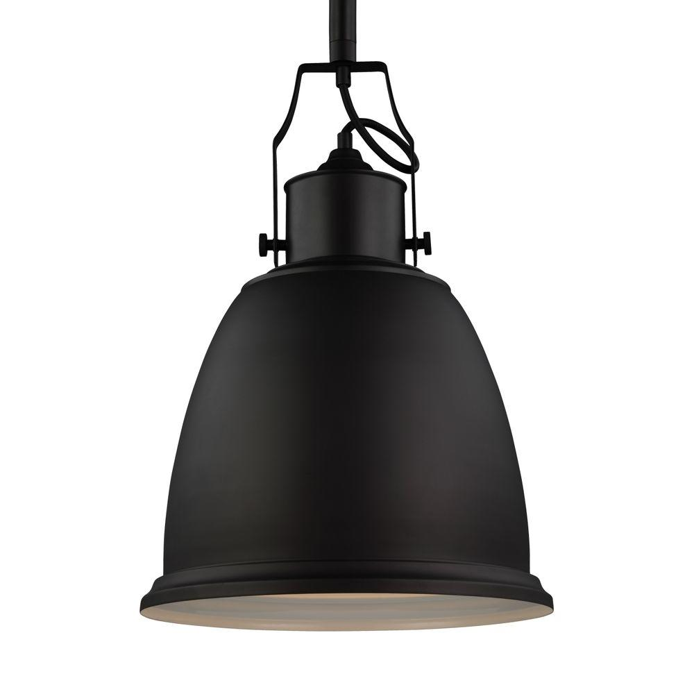 Feiss Hobson 1-Light Oil Rubbed Bronze Pendant-P1359ORB - The Home Depot