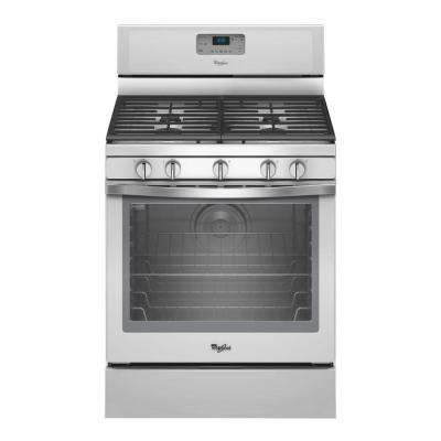 5.8 cu. ft. Gas Range with Self-Cleaning Convection Oven in White Ice