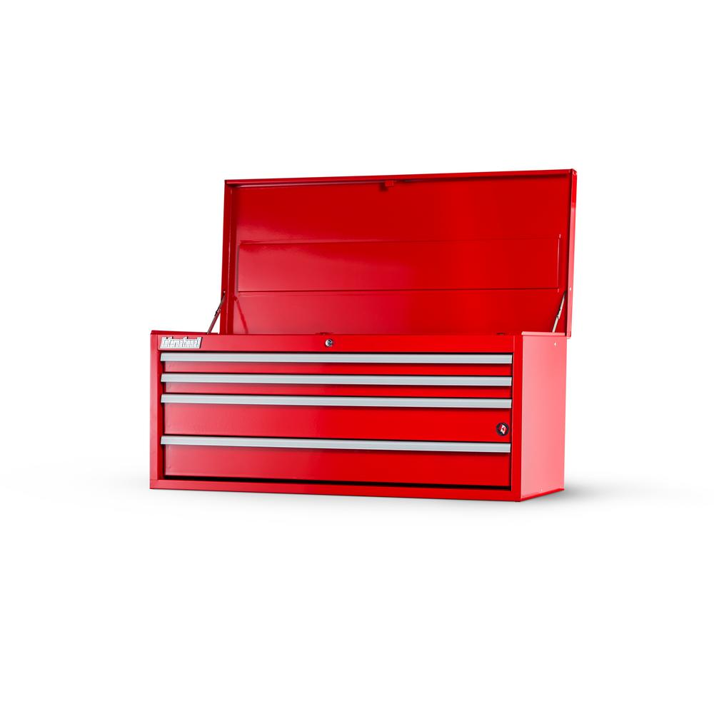 International Workshop Series 42 in. 4-Drawer Top Chest in Red