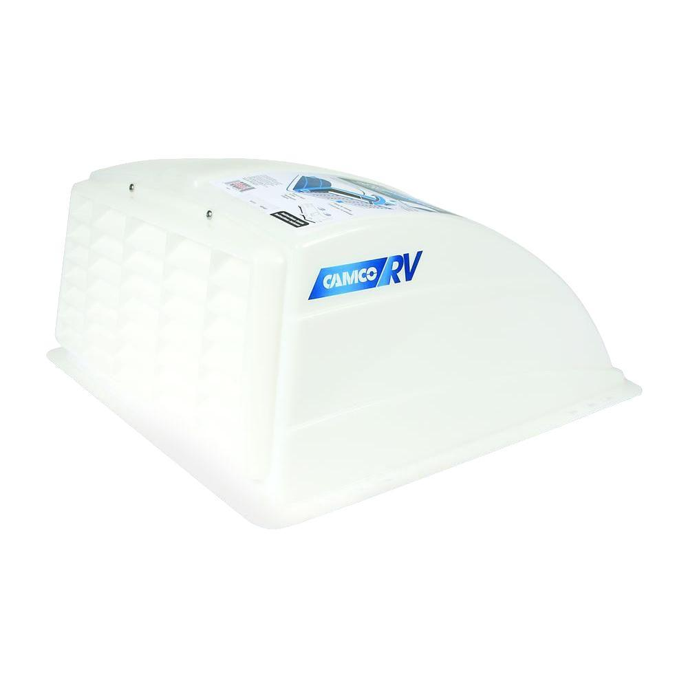 Rv Roof Vent Cover White Aerodynamic 14 In Square Rain