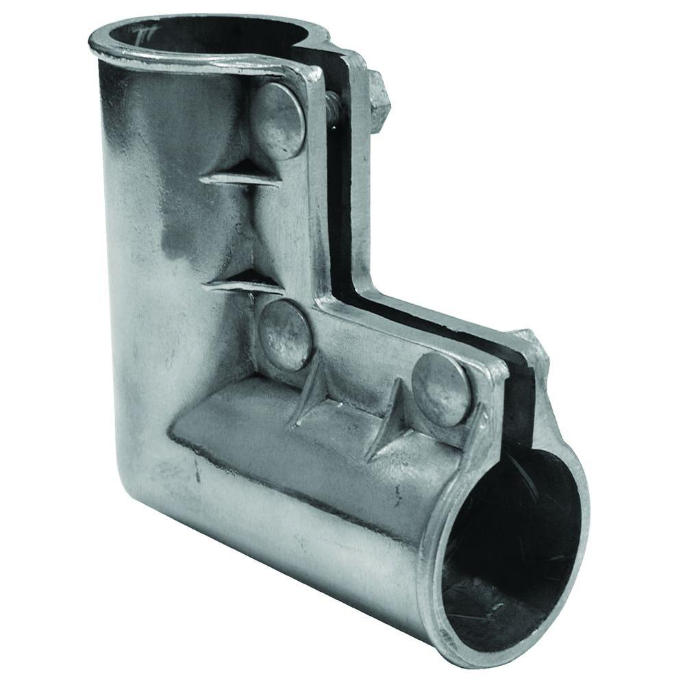 YARDGARD 1 38 in Galvanized Gate Elbow with Bolts 328623C The