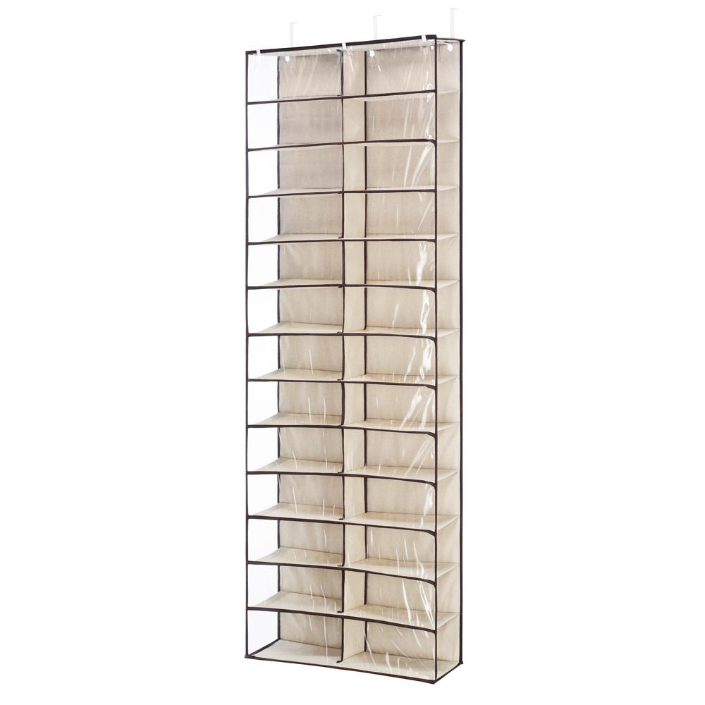 Whitmor 26 Pair Over The Door Shoe Organizer In Beige