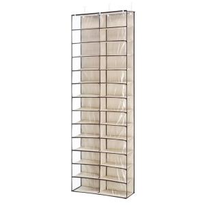 e1bb5c32f40 Whitmor 36-Pair Gunmetal Over the Door Shoe Rack Metal Shoe ...