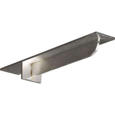 16 in. x 3 in. x 2 in. Stainless Steel Unfinished Metal Heaton Bracket