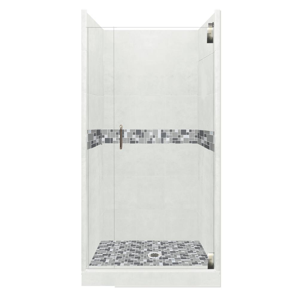 American Bath Factory Newport Grand Hinged 38 In X 38 In X 80 In Center Drain Alcove Shower