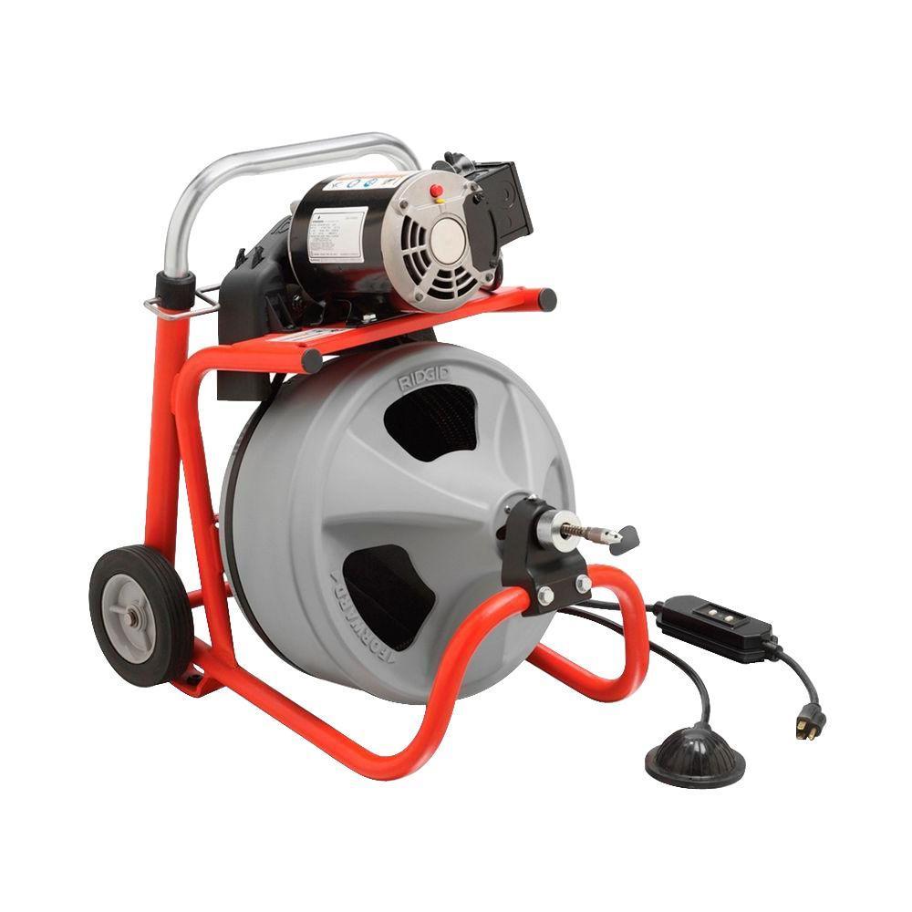 RIDGID K-400 with C-45 IW Drum Machine for 1-1/2 in. to 4 in. Drain Lines