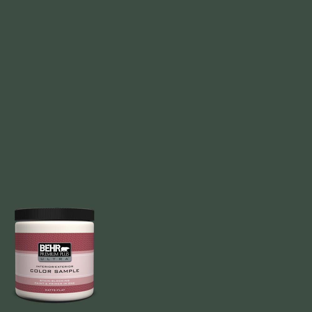 BEHR Premium Plus Ultra 8 oz. #ECC-45-3 Conifer Interior/Exterior Paint Sample