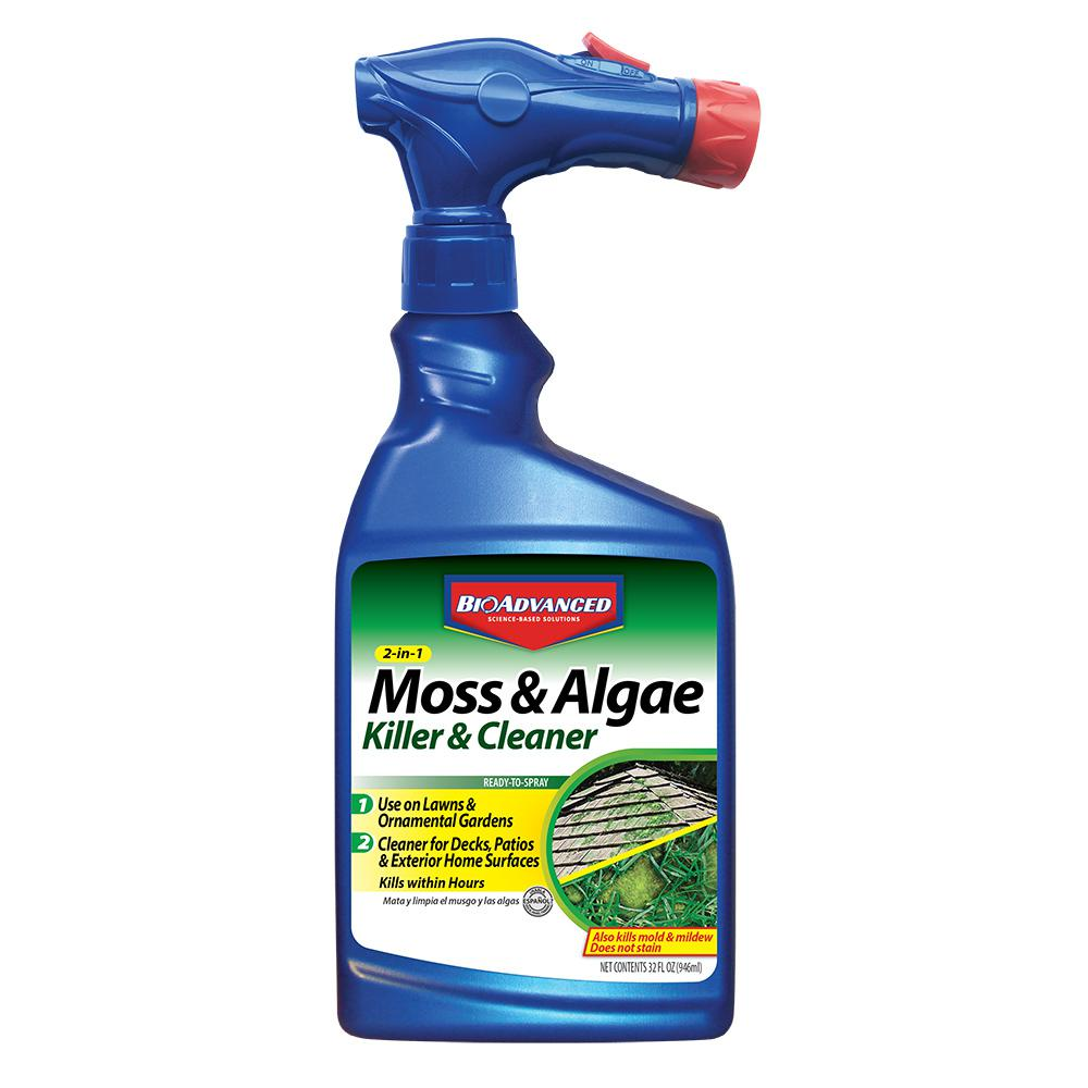 Bioadvanced 32 Oz Ready To Spray 2 In 1 Moss And Algae