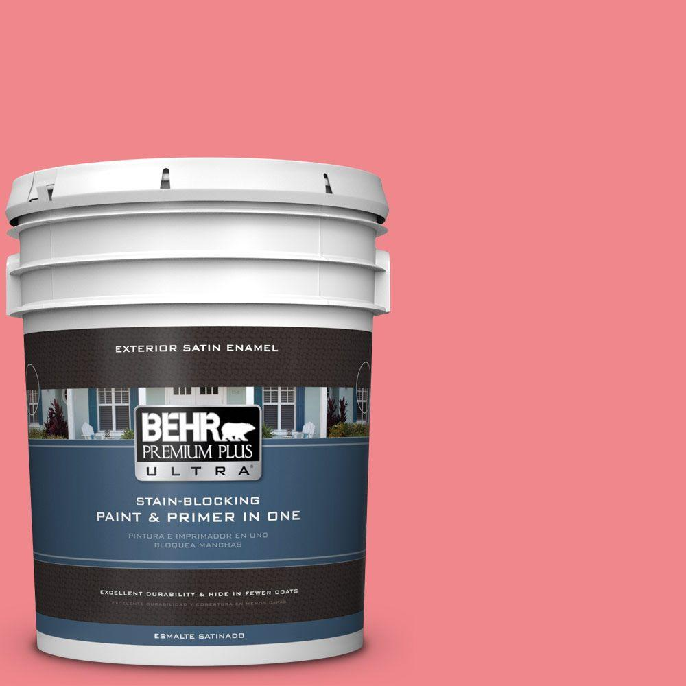 5-gal. #140B-5 Flamingo Dream Satin Enamel Exterior Paint