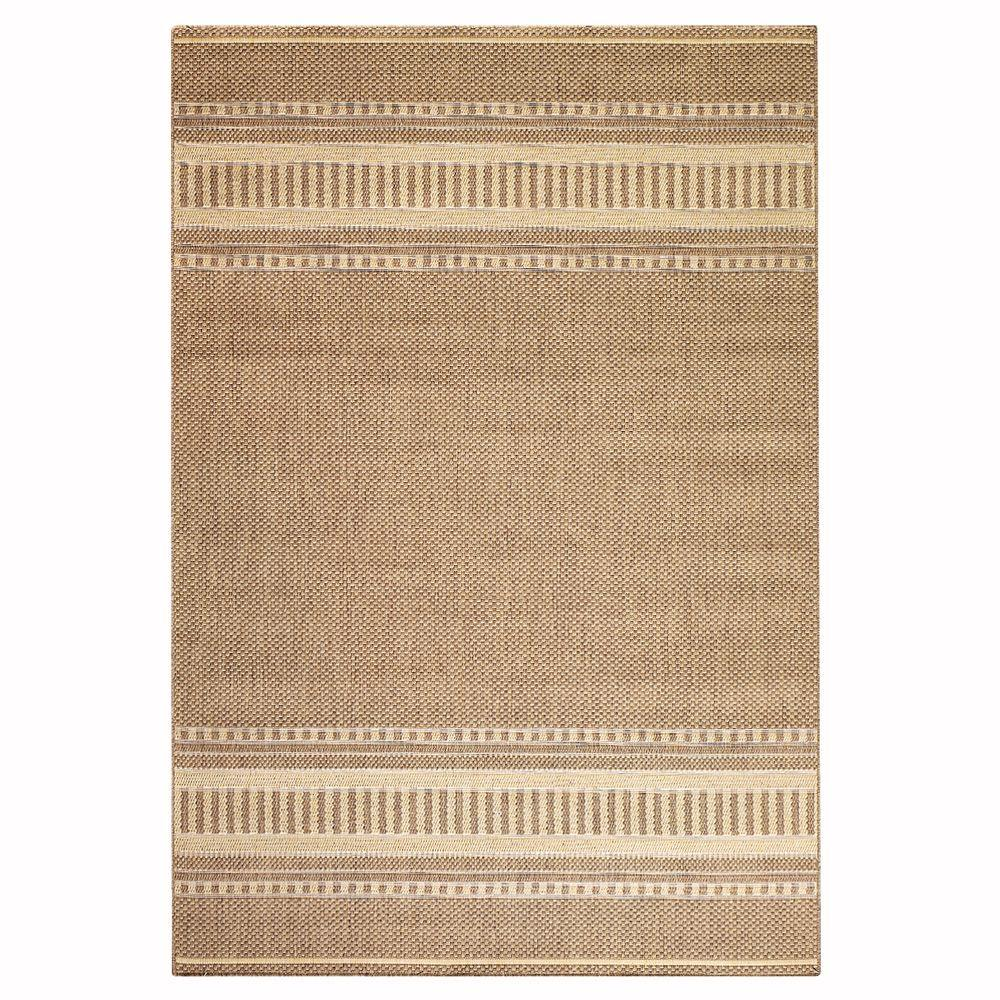 Home Decorators Collection Pueblo Design Cocoa and Natural 1 ft. 8 in. x 3 ft. 7 in. Area Rug