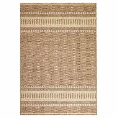 Pueblo Design Cocoa and Natural 5 ft. x 8 ft. Area Rug