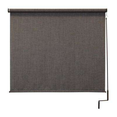 120 in. W x 96 in. L Tide Pool Elite PVC Fabric Outdoor Roller Shade Cordless Pole Operated