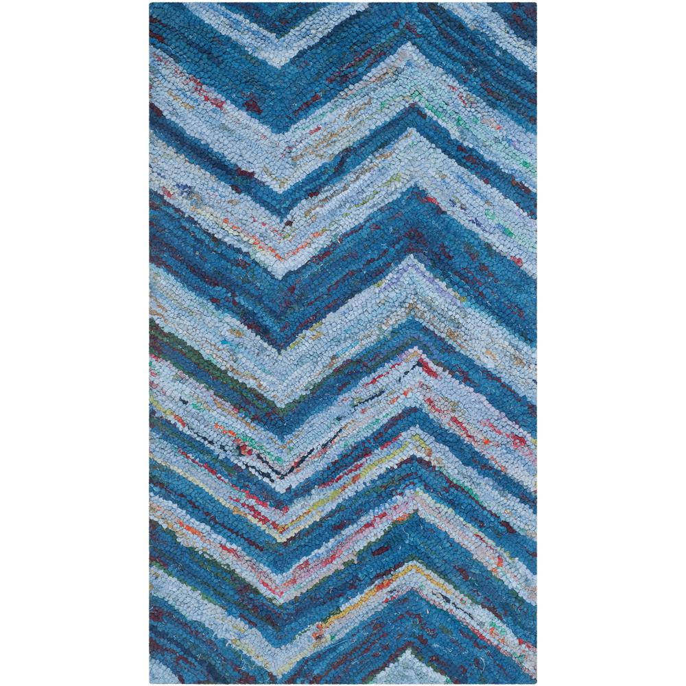 Nantucket Blue/Multi 2 ft. 3 in. x 4 ft. Area Rug