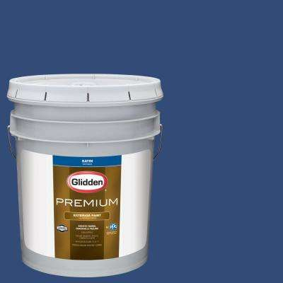 5 gal. #NHL-016C Montreal Canadiens Dark Blue Satin Exterior Paint
