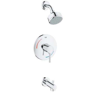 Concetto Single-Handle 2-Spray Tub and Shower Faucet in StarLight Chrome (Valve Not Included)