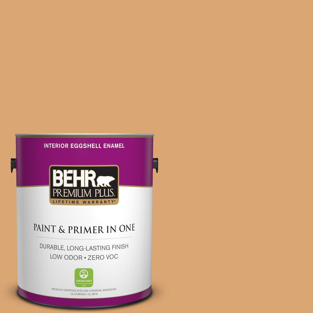 BEHR Premium Plus 1-gal. #BIC-14 Fresh Nectar Eggshell Enamel Interior Paint