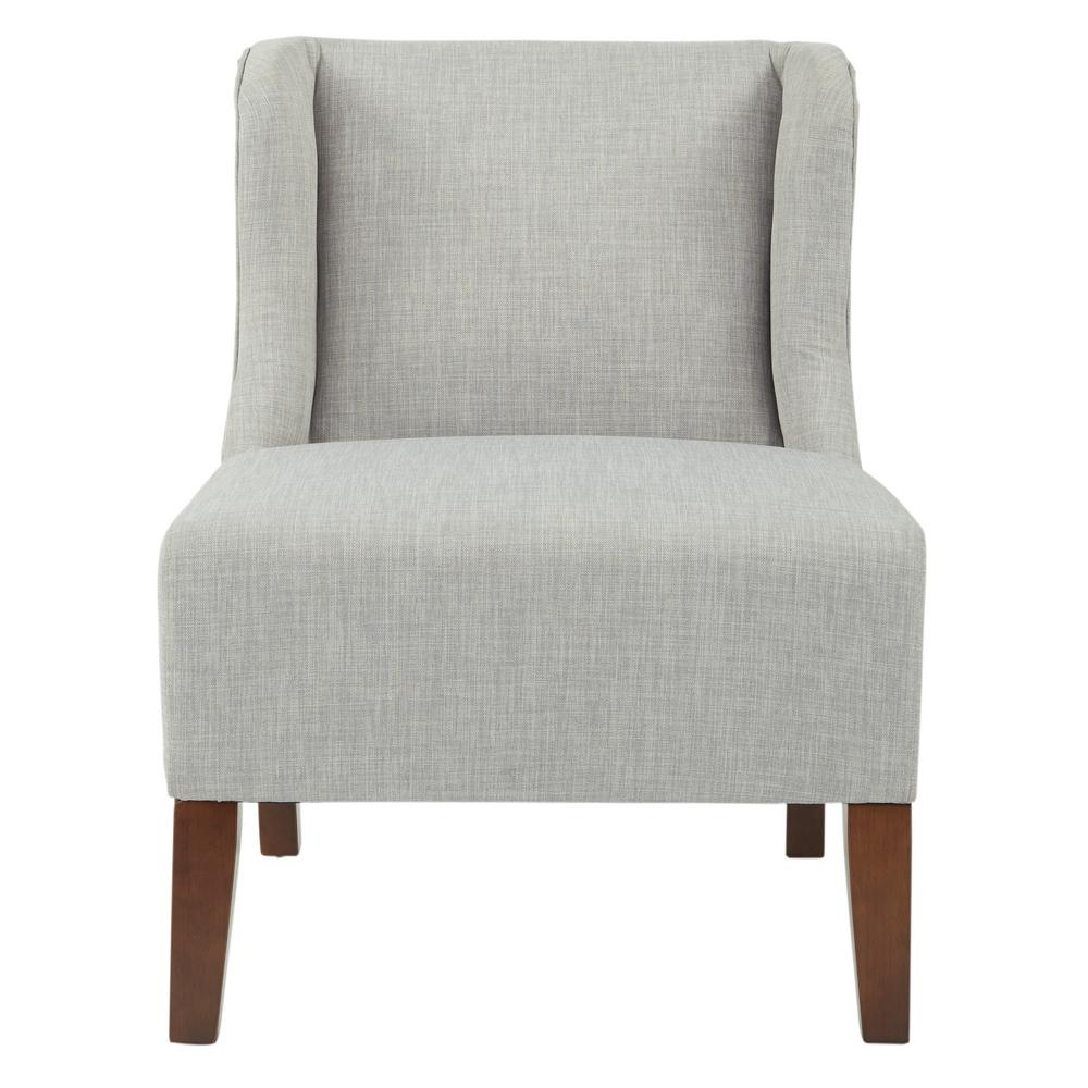 Ave Six Leslie Chair In Dove Fabric With Coffee Legs K/D