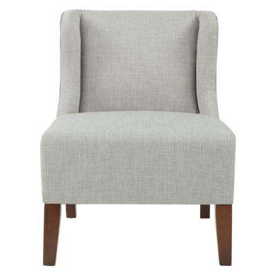 Leslie Chair in Dove Fabric with Coffee Legs K/D