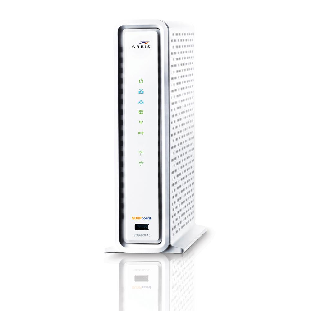 Arris Surfboard Wireless Docsis 30 Cable Modem And Wi Fi Router With Connection On Home Tv Wiring Sbg6900 Ac Refurbished