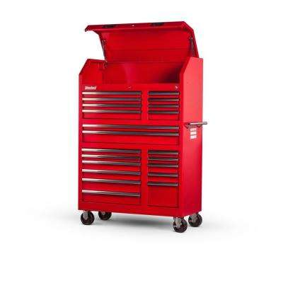 Tech Series 42 in. 20-Drawer Tool Tower in Red