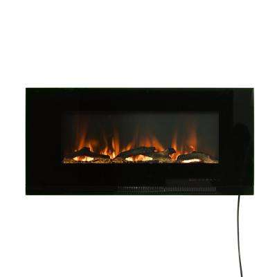 42 in. Wall-Mount Electric Fireplace in Black