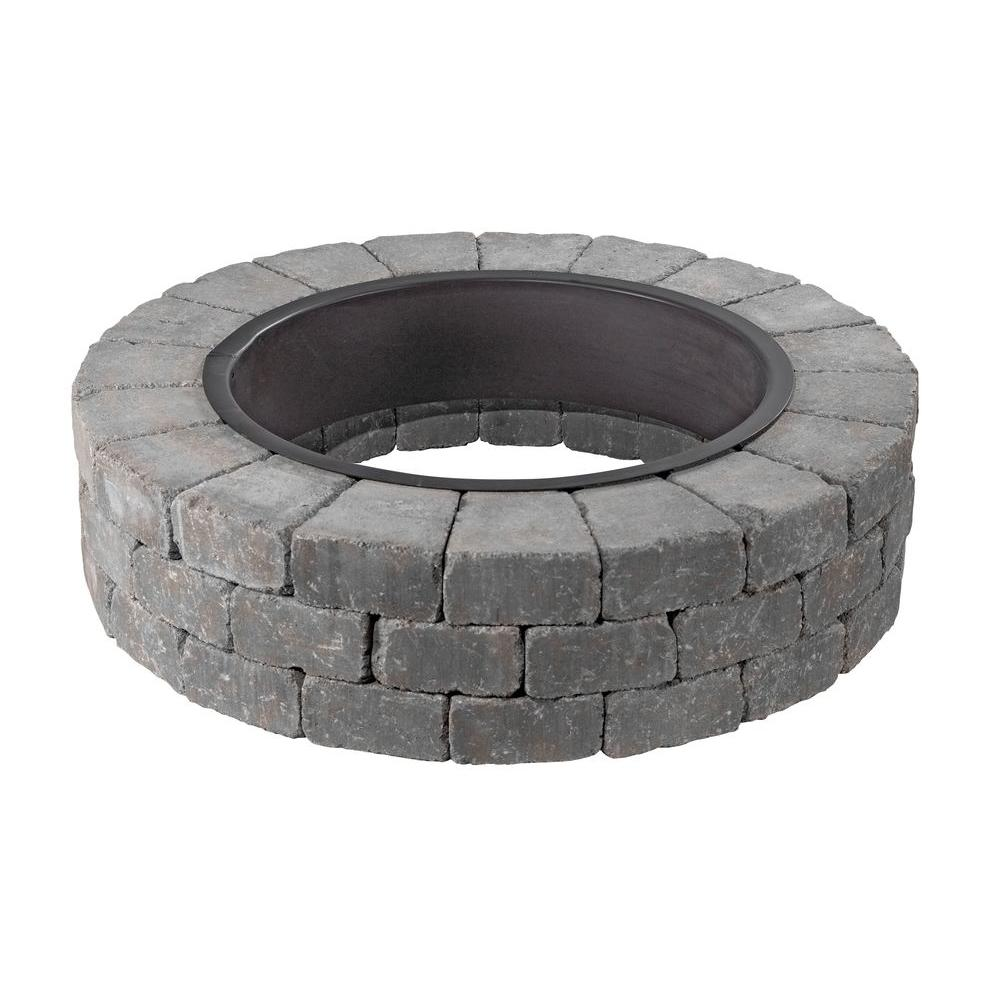 Necessories Grand 48 in. Fire Pit Kit in Bluestone