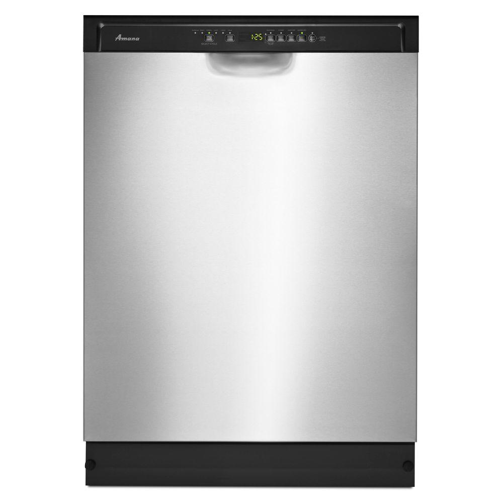 Amana 24 in. Front Control Dishwasher in Stainless Steel with Stainless Steel Tub