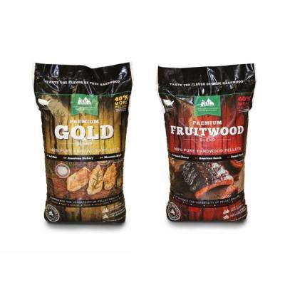 Premium Oak Gold Hardwood Grilling Pellets and Fruitwood Pellets