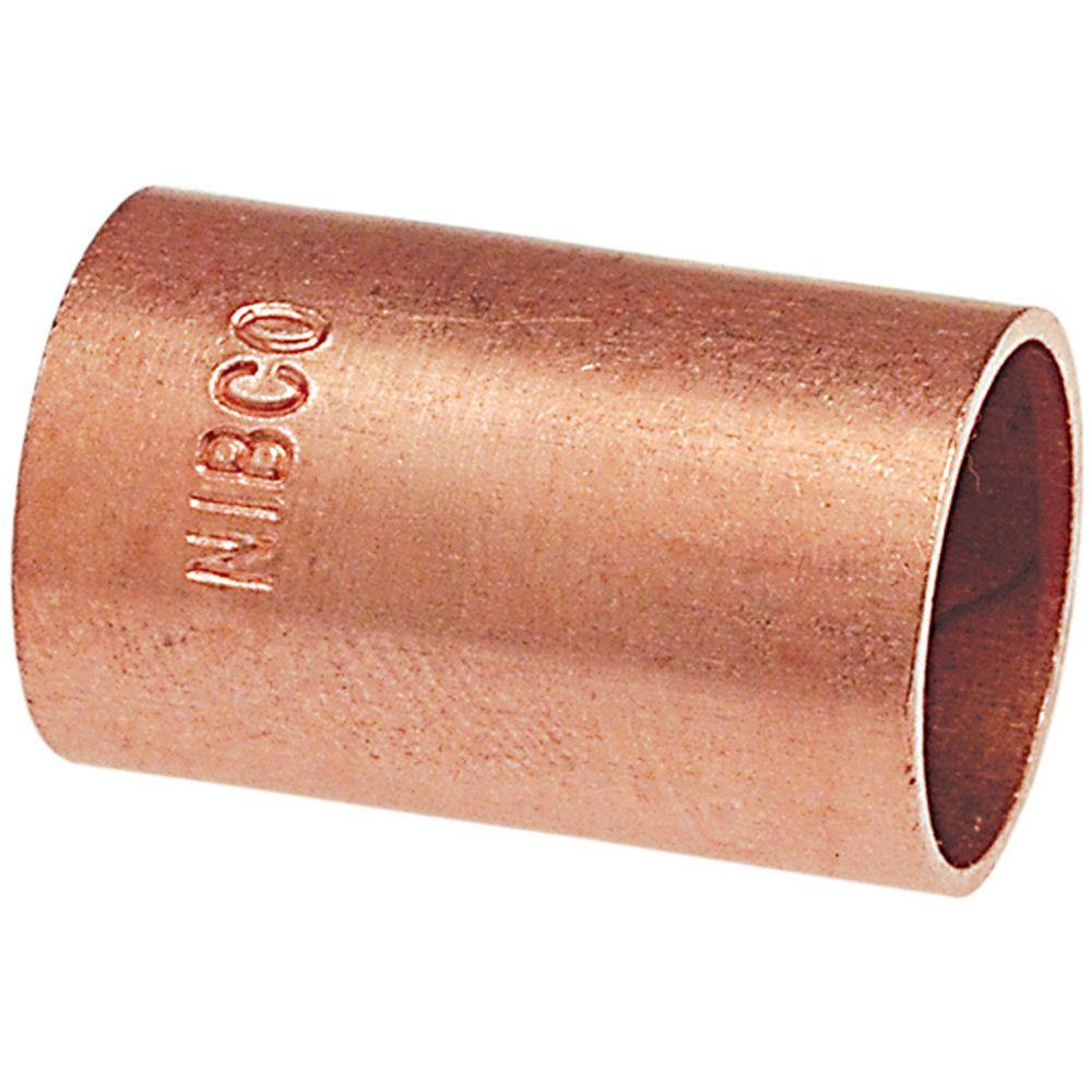 null 3/4 in. Copper Pressure Slip Coupling