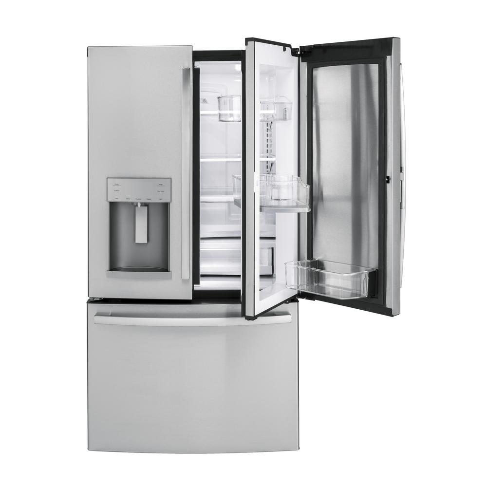 GE 36 In. W 27.8 Cu. Ft. French Door Refrigerator With Door