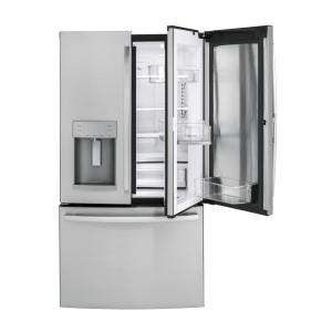 Click here to buy GE 36 inch W 27.8 cu. ft. French Door Refrigerator with Door-in-Door in Stainless Steel by GE.