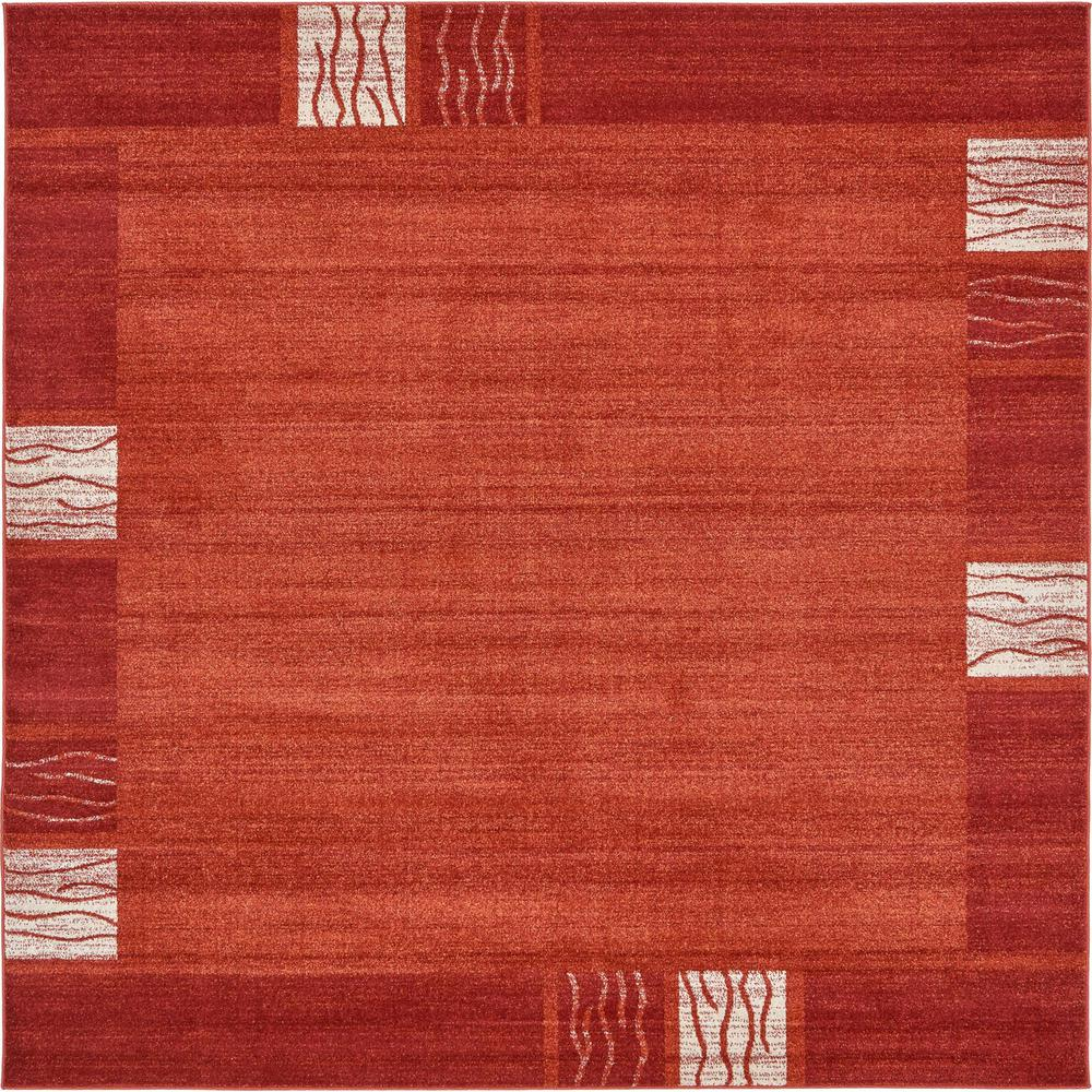 Del Mar Rust Red 8' x 8' Square Rug