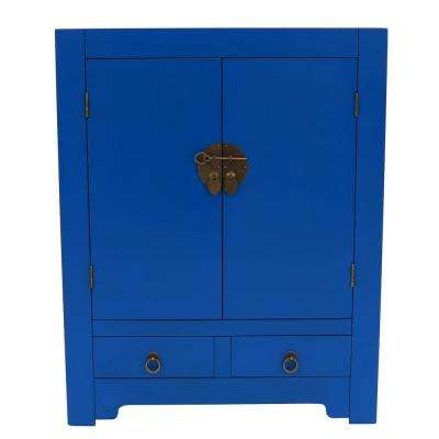 Keyes Snorkel Blue Accent Cabinet