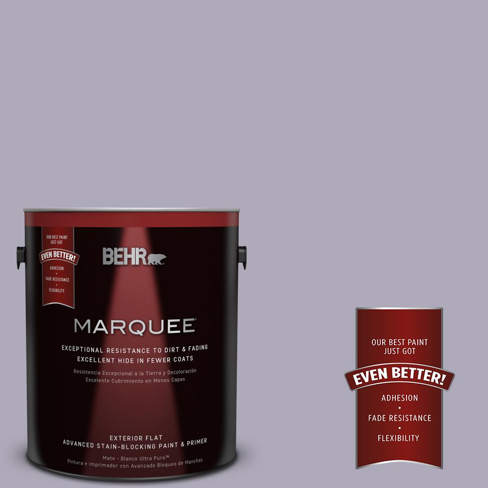 BEHR MARQUEE 1-gal. #ICC-98 Lilac Bloom Flat Exterior Paint