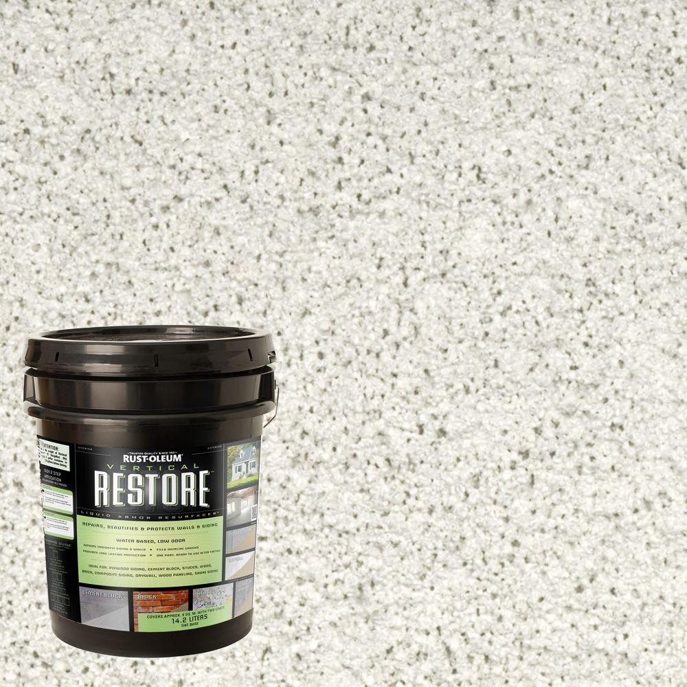 Rust-Oleum Restore 4-gal. White Vertical Liquid Armor Resurfacer for Walls and Siding