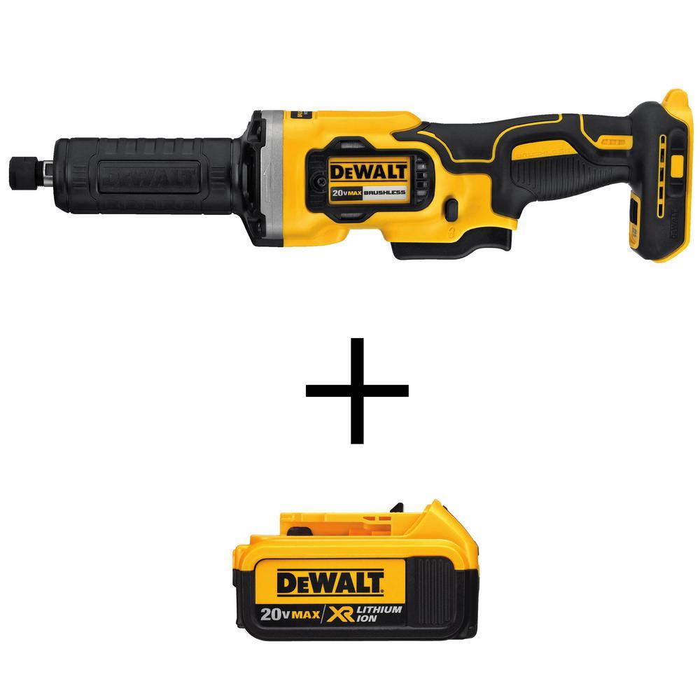DEWALT 20-Volt MAX XR Lithium-Ion Cordless Brushless 1-1/2 in. Variable Speed Die Grinder (Tool-Only)