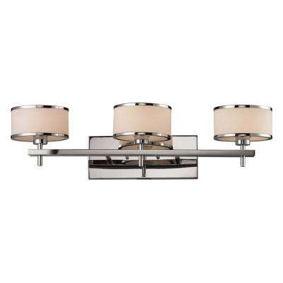 Utica 3-Light Polished Chrome Wall Mount Bath Bar Light