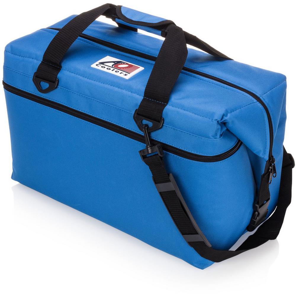 42 Qt. Canvas Cooler with Shoulder Strap and Wide Outside Pocket