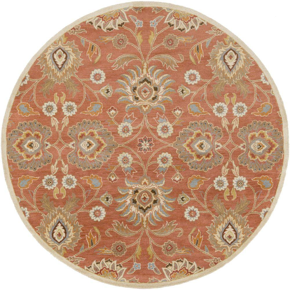 Artistic Weavers Cambrai Orange 10 Ft X 10 Ft Round