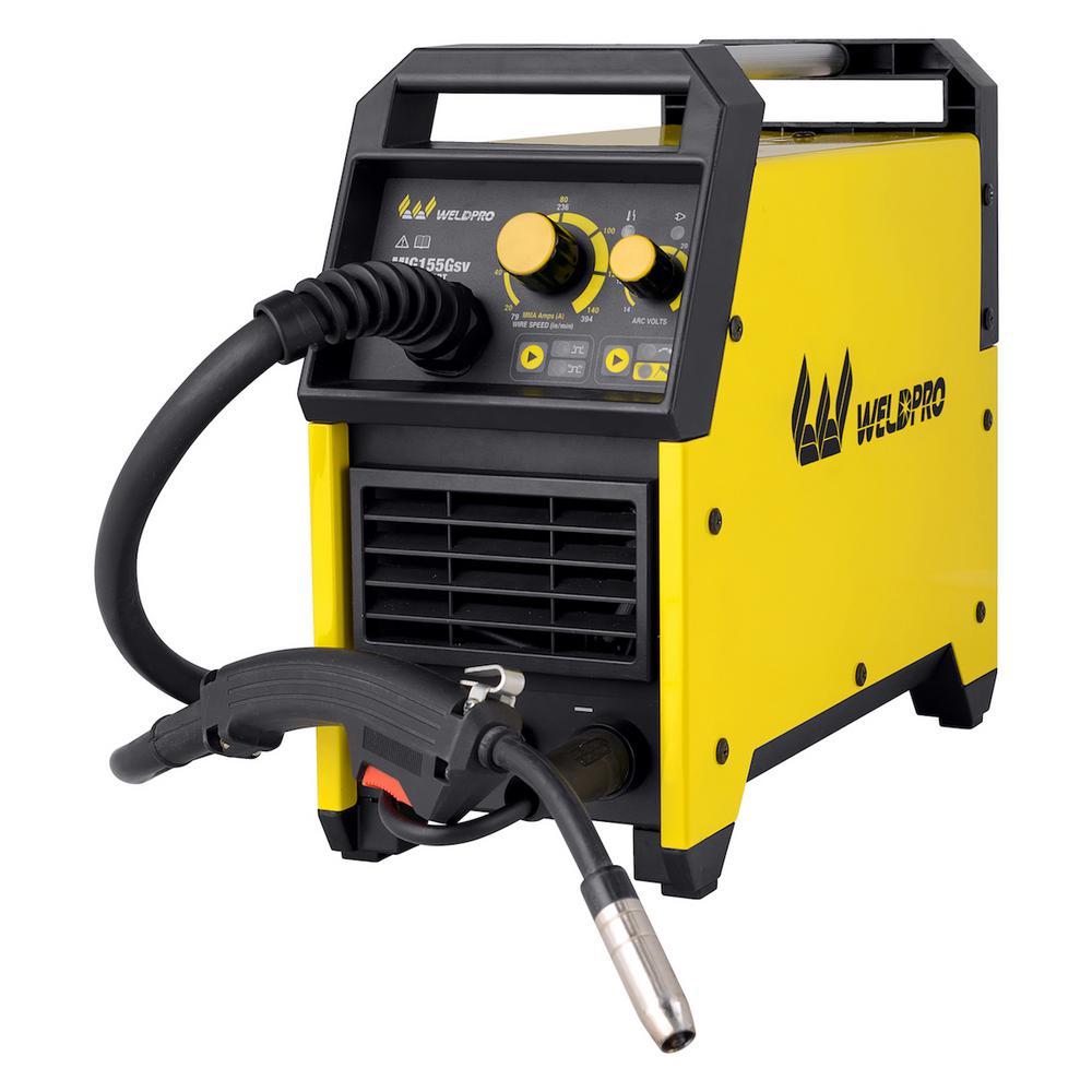 W Weldpro 155 Amp Inverter MIG/Stick Welder with Dual Voltage