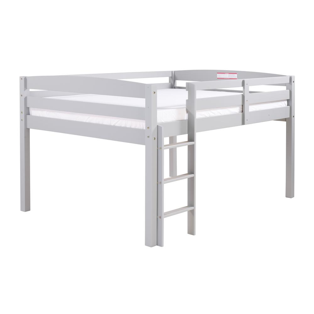 Camaflexi Concord Grey Twin Size Junior Loft Bed T1304 The Home Depot