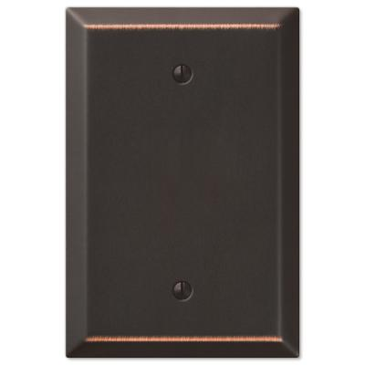 Oversized 1 Gang Blank Steel Wall Plate - Aged Bronze