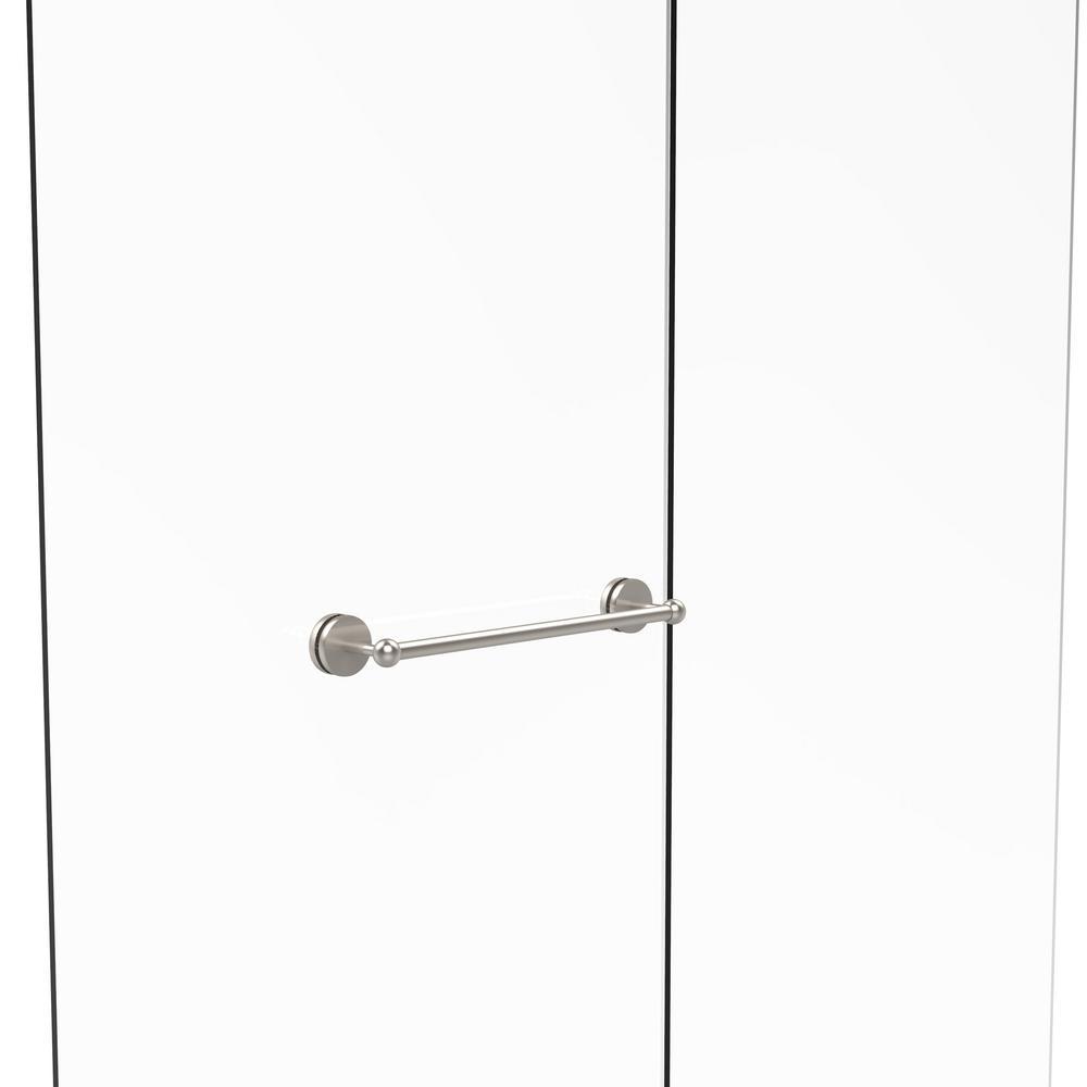 Prestige Skyline Collection 18 in. Shower Door Towel Bar in Satin Nickel