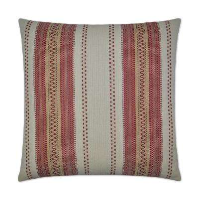 Rigadoon Red Feather Down 24 in. x 24 in. Decorative Throw Pillow
