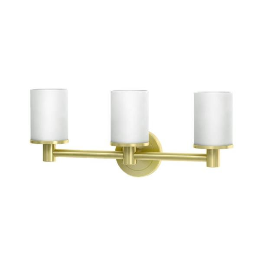 Latitude II 3-Light Bright Brushed Brass Sconce