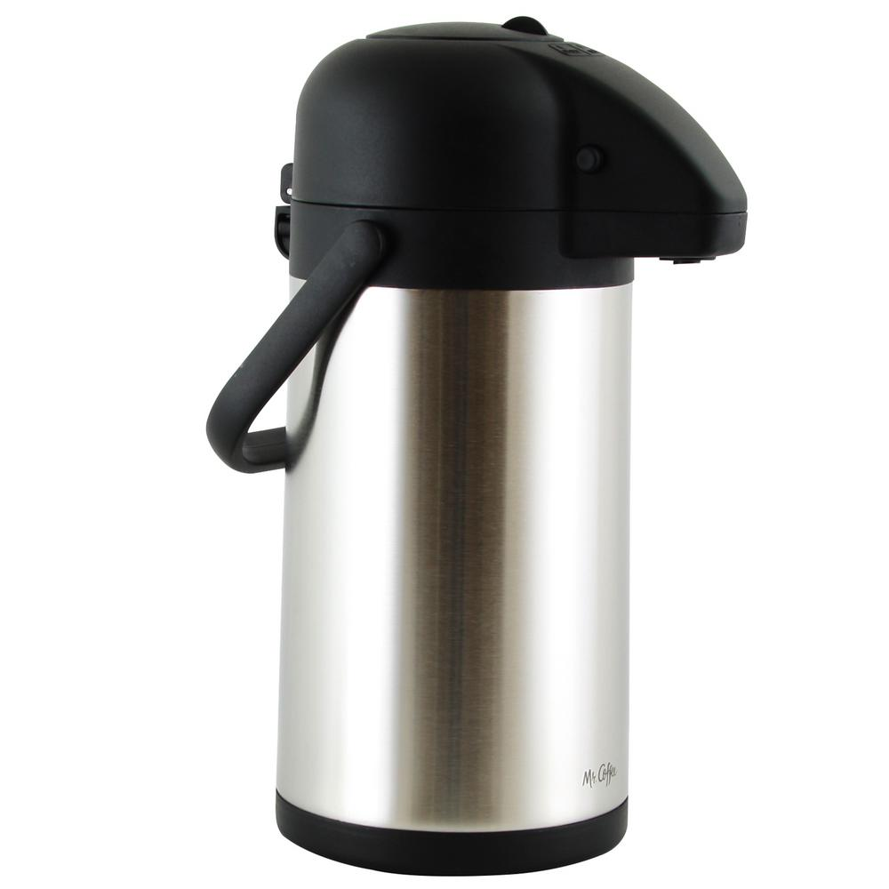 Mr Coffee Javamax 2 24 Qt Stainless Steel Vacuum Sealed Double Wall Pump Pot